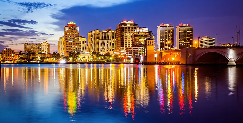 Private jet charter flights in palm beach